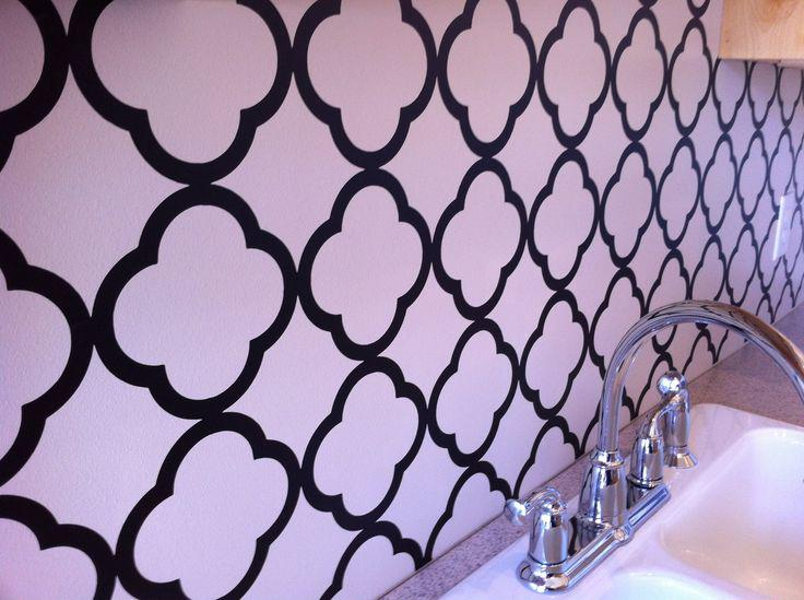 Image of: vinyl backsplash for kitchen