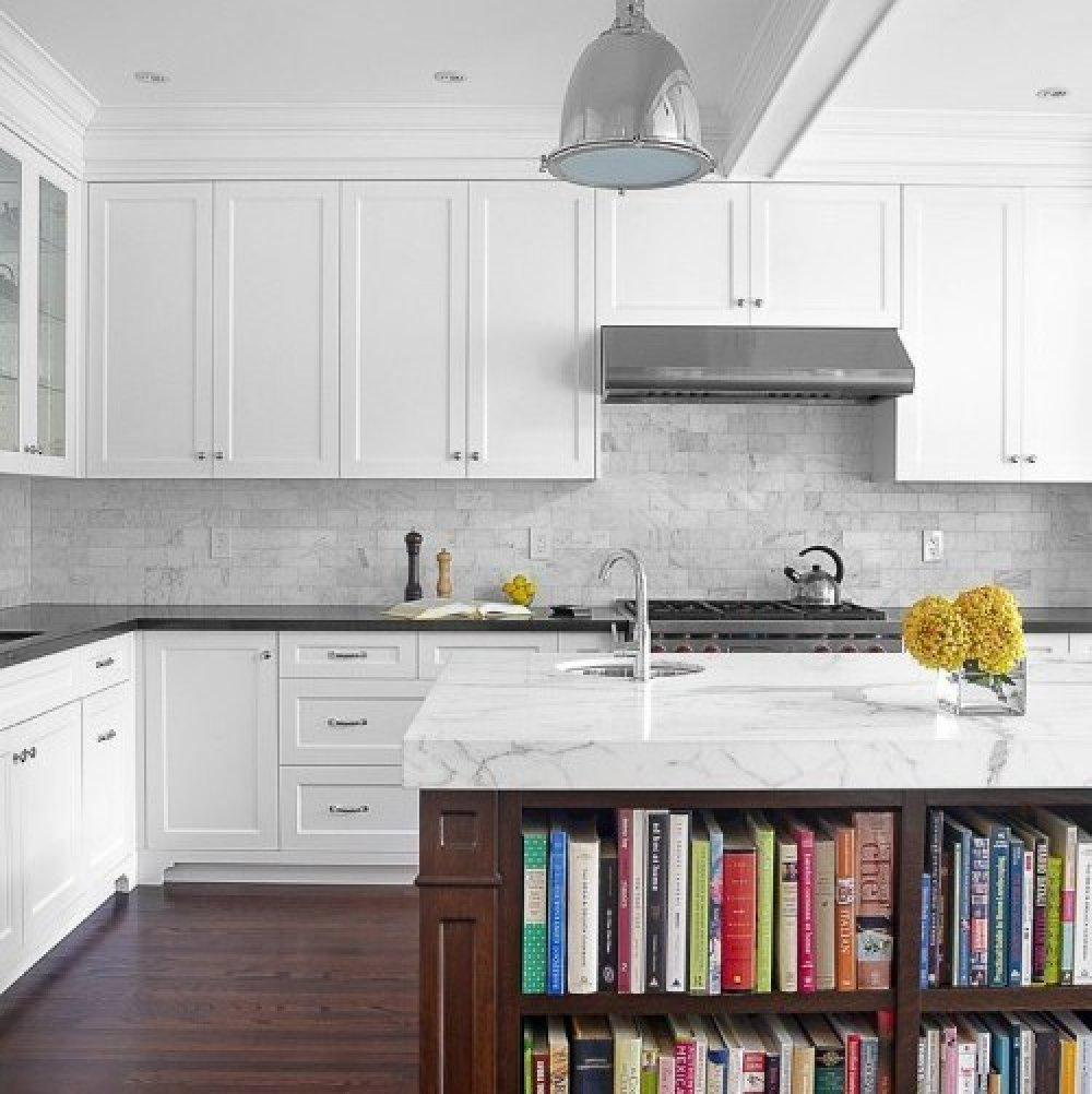 Image of: White Tile Backsplash White Cabinets Ideas