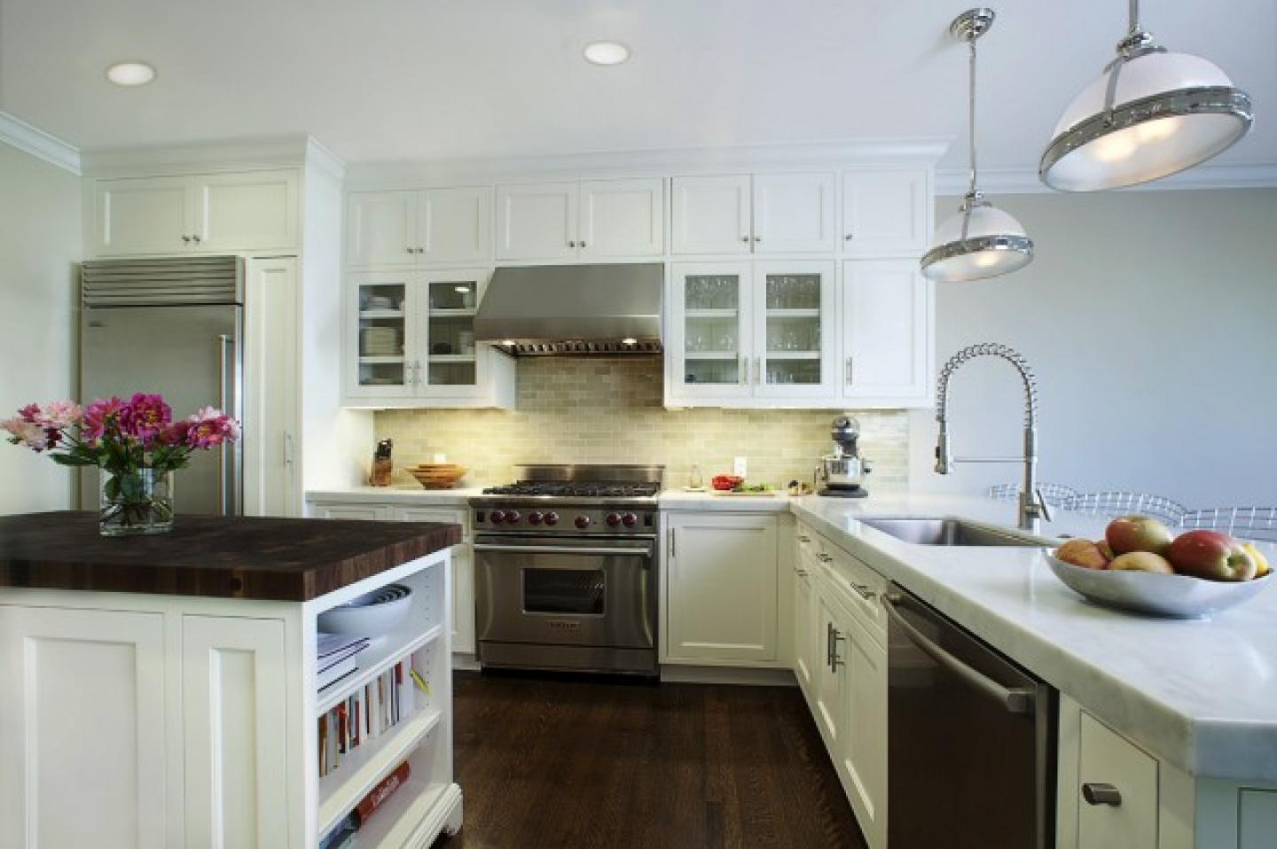 Image of: white tile backsplash