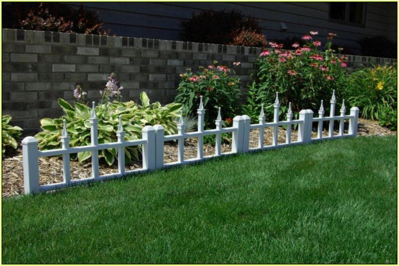 Image of: Low Decorative Garden Fencing Ideas