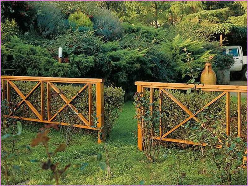 Image of: Simple Decorative Garden Fencing Ideas