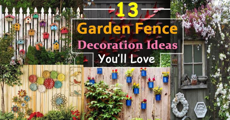 Image of: Creative Decorative Garden Fencing Ideas