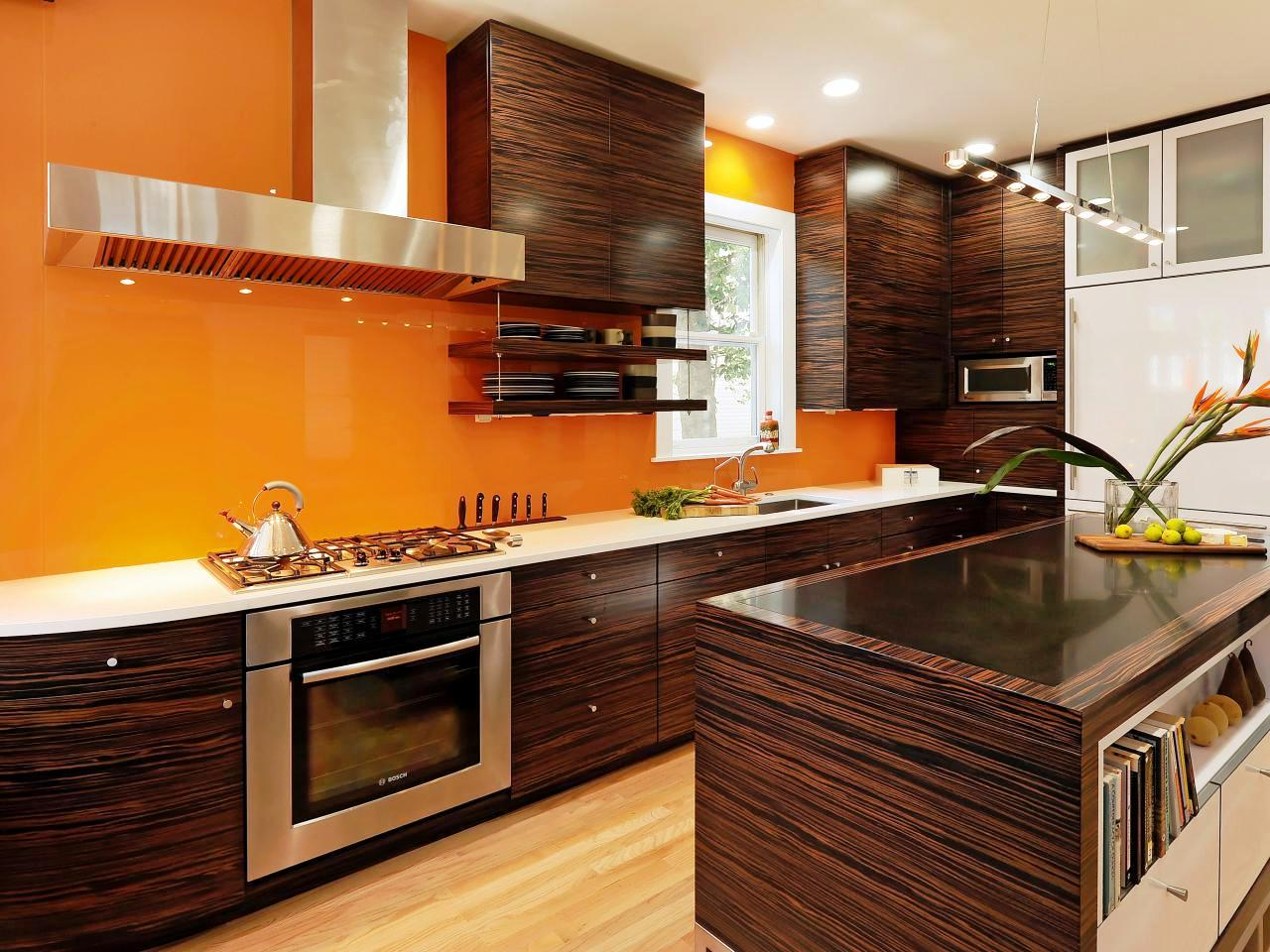 Image of: Best Paint Color For Kitchen With Dark Cabinets
