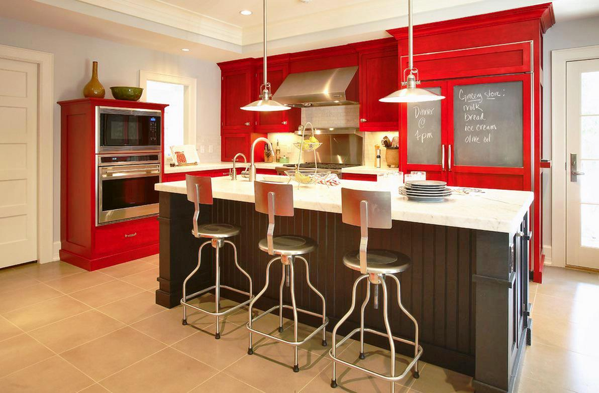 Image of: What Color Countertops Go With Dark Cabinets