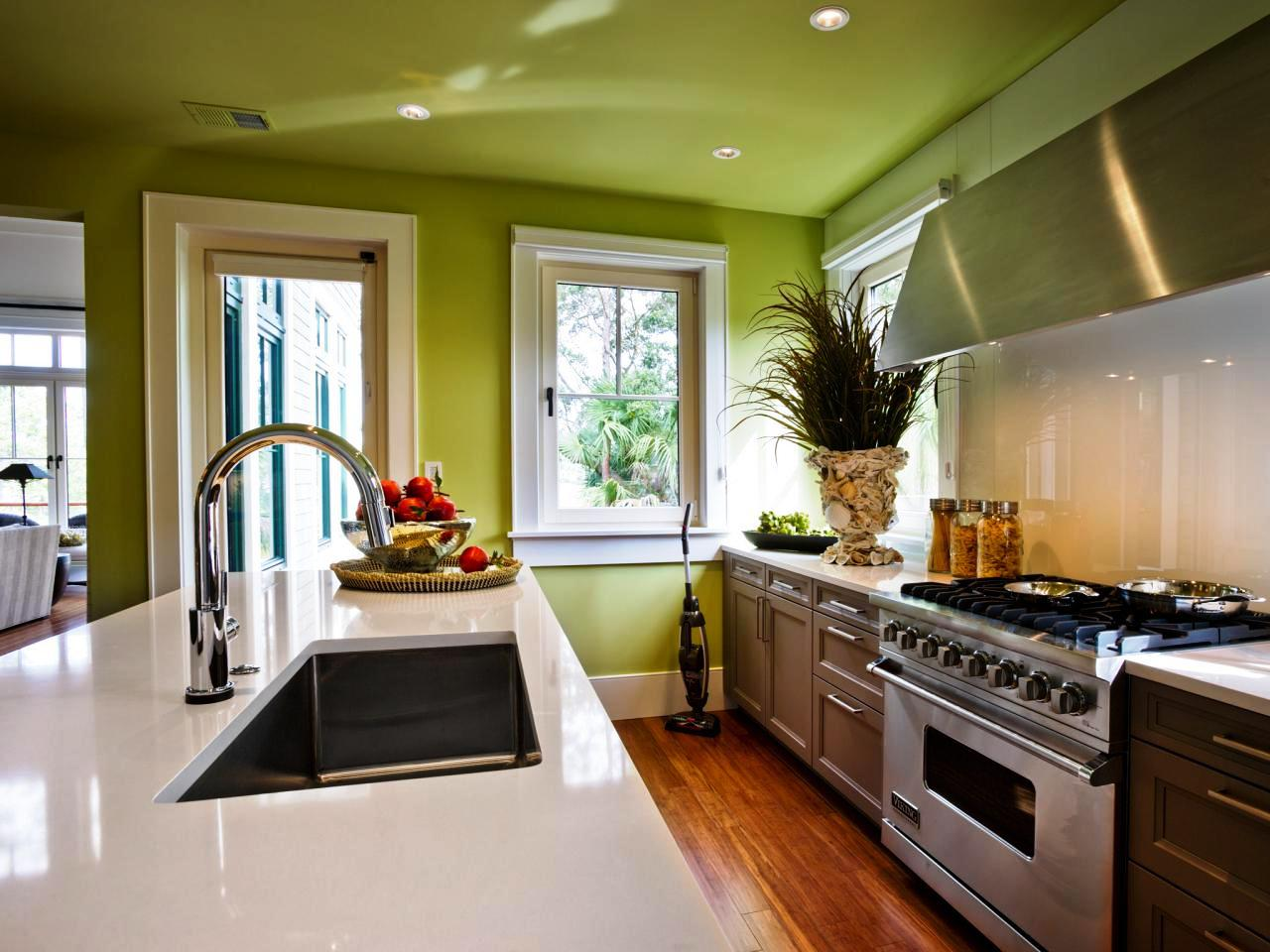 Image of: What Paint Color Goes With Oak Cabinets
