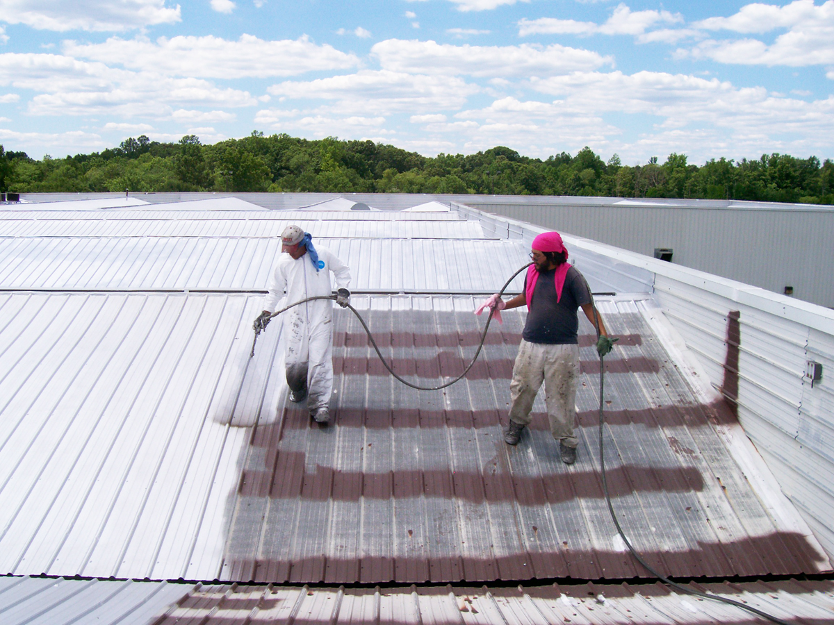 Image of: Acrylic Roof Coating Finishing
