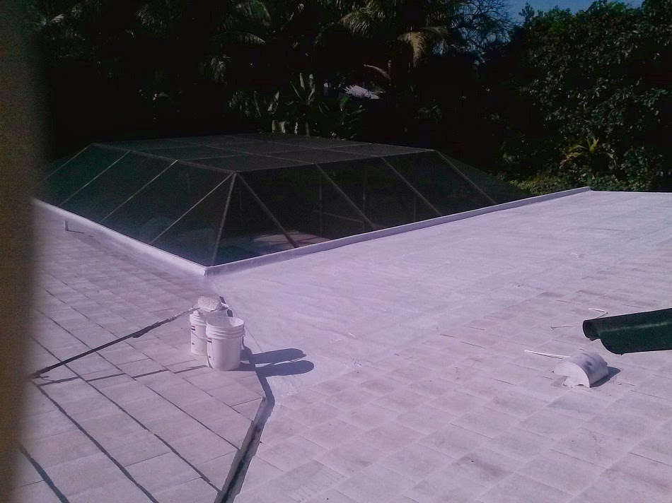 Image of: Acrylic Roof Coating Project