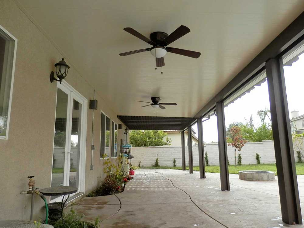 Image of: Aluminum Patio Roof Panels Ceiling