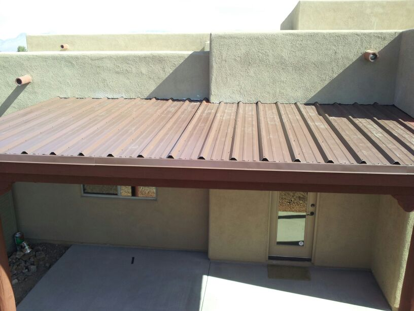 Image of: Aluminum Porch Roof Brown