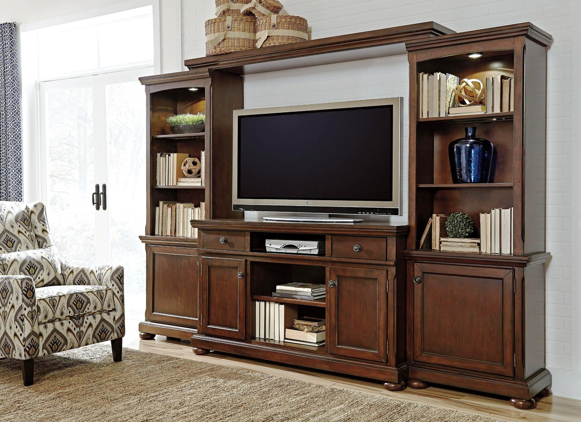 Image of: Ashley Furniture Entertainment Centers