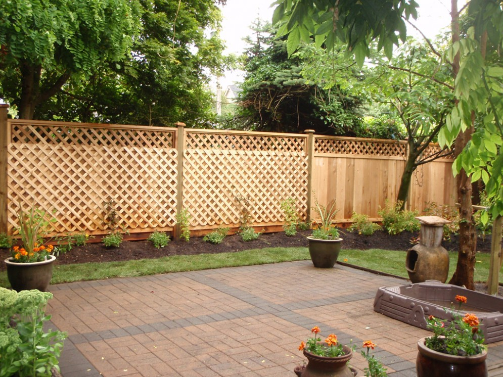 Image of: Backyard Fence Ideas Solutions