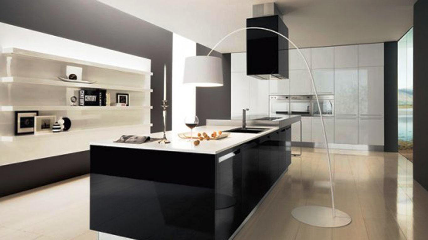 Image of: Black And White Kitchen Backsplash