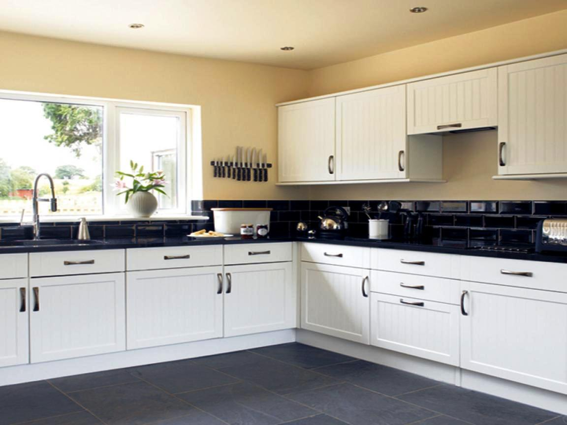 Image of: Black And White Kitchen Floor