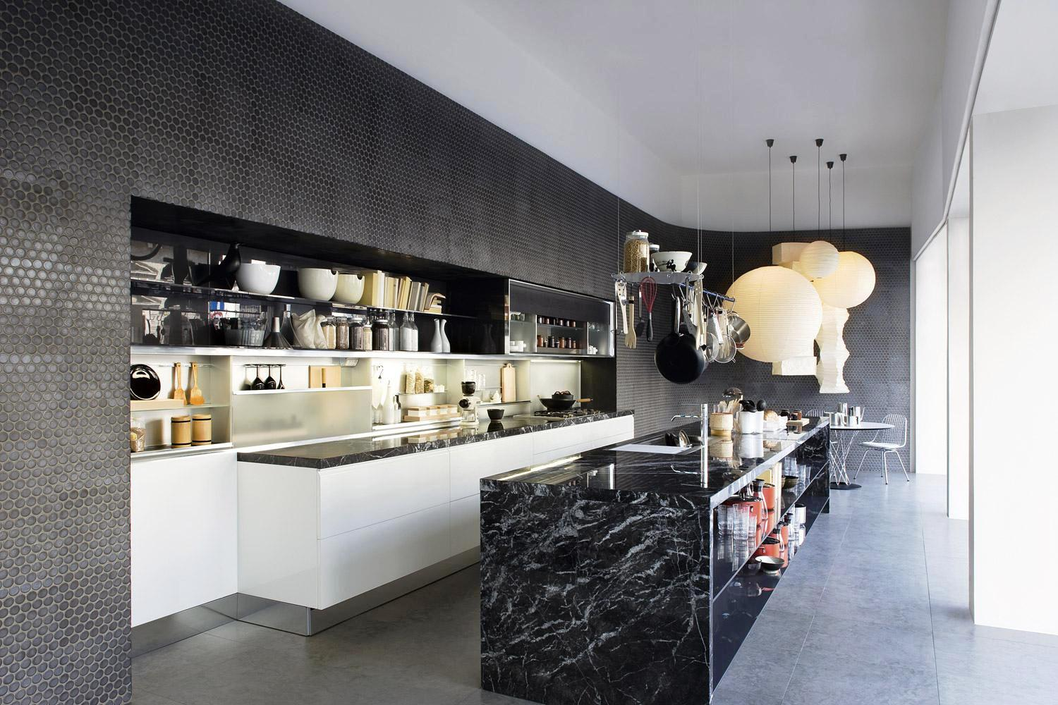 Image of: Black And White Kitchens Ideas