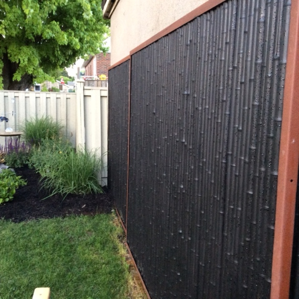 Image of: Black Bamboo Privacy Fence