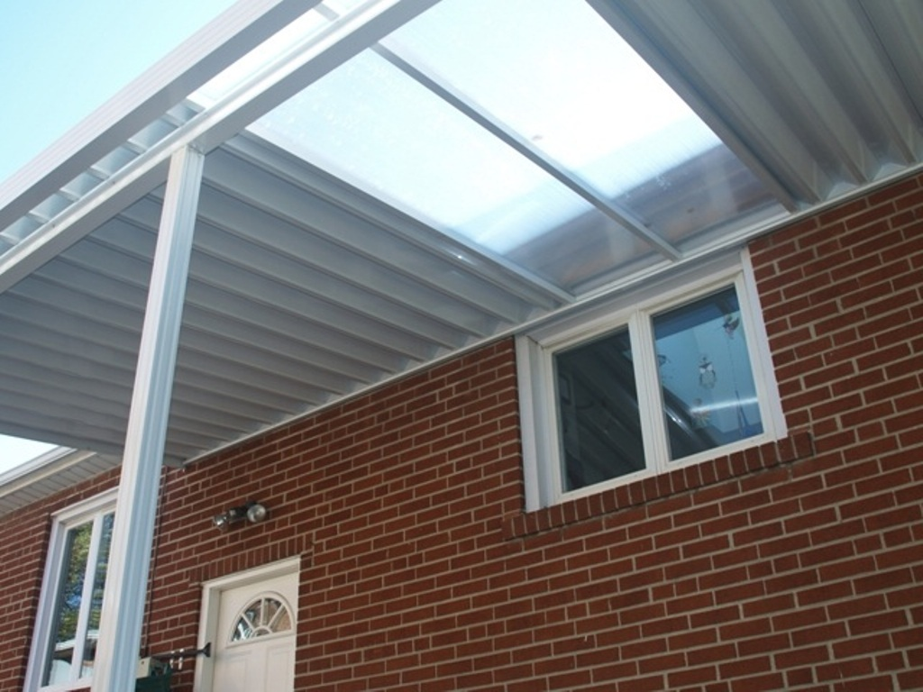 Image of: Clear Roofing Panels for Metal Roof