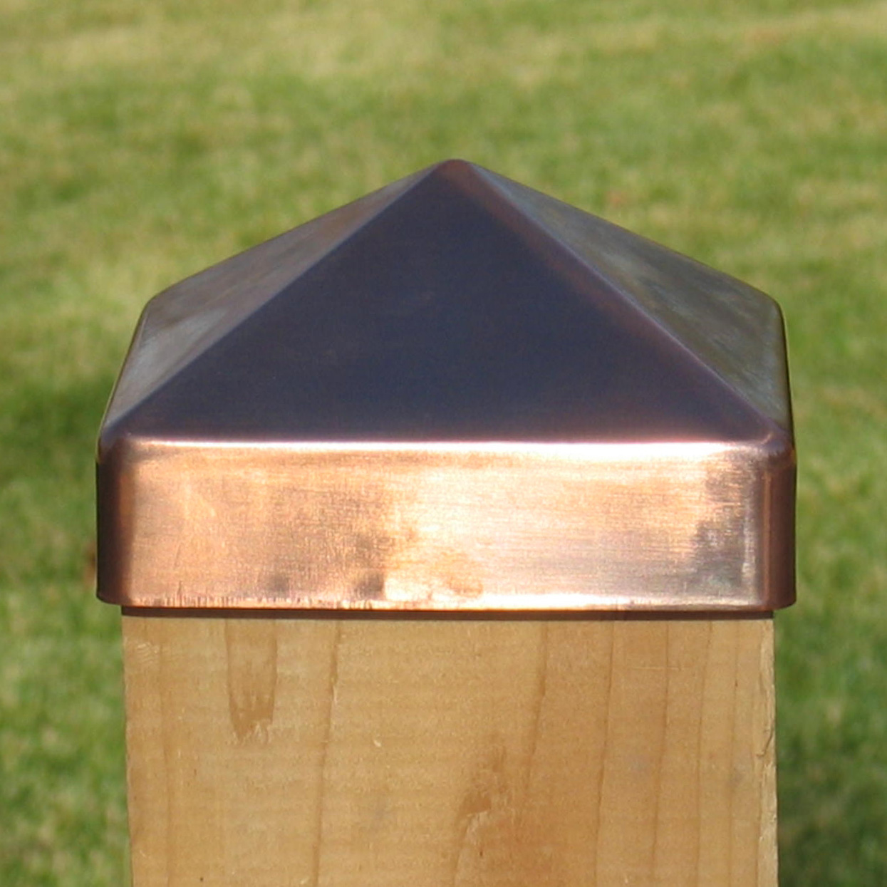 Image of: Copper Fence Post Caps