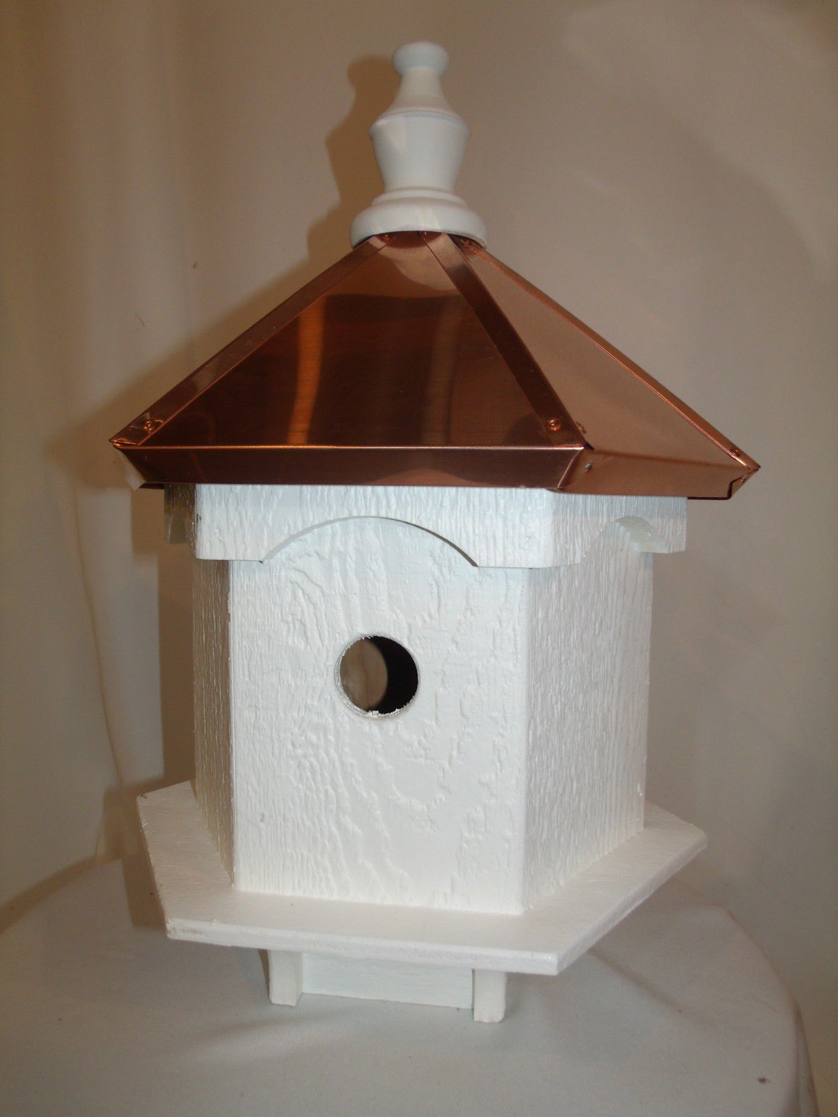 Copper Roof Birdhouse Hole