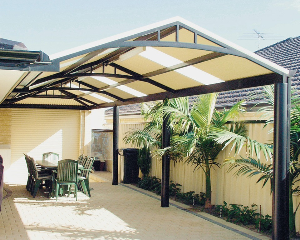 Image of: Curved Aluminum Patio Roof Panels