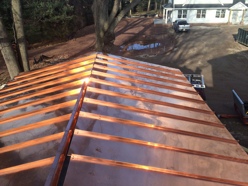 Image of: Diy Copper Roofing Sheet