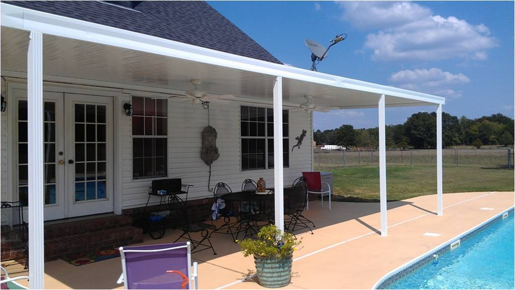 Image of: Durable Aluminum Patio Roof Panels