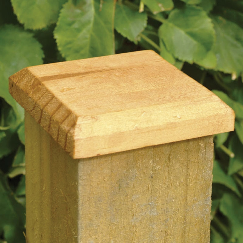Image of: Fence Post Caps Ideas
