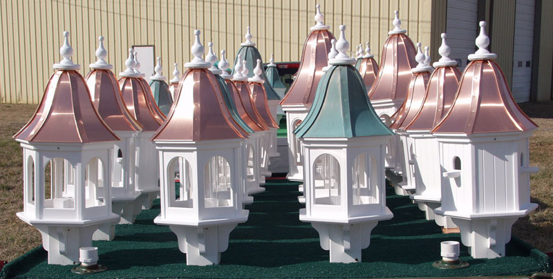 Image of: Finished Copper Roof Birdhouse