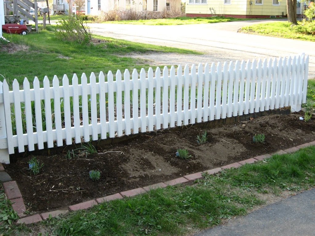 Image of: Garden Border Fence