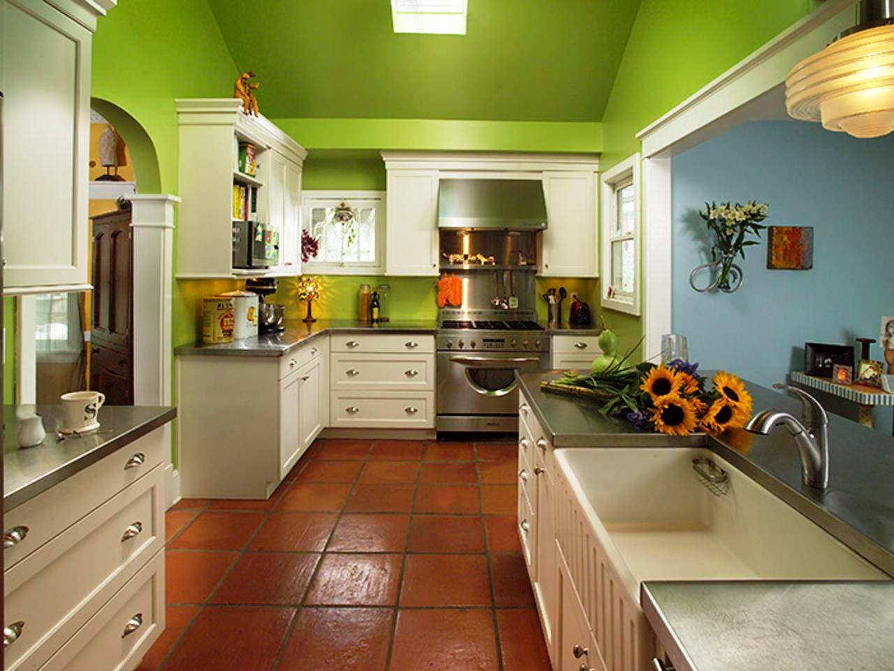 Image of: Green And Gray Kitchen Ideas