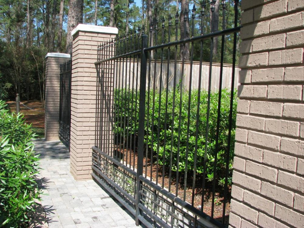 Image of: Iron Fencing Home Depot
