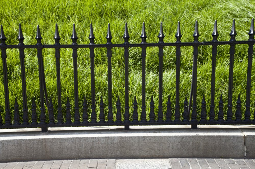 Image of: Iron Fencing For Garden Designs Ideas