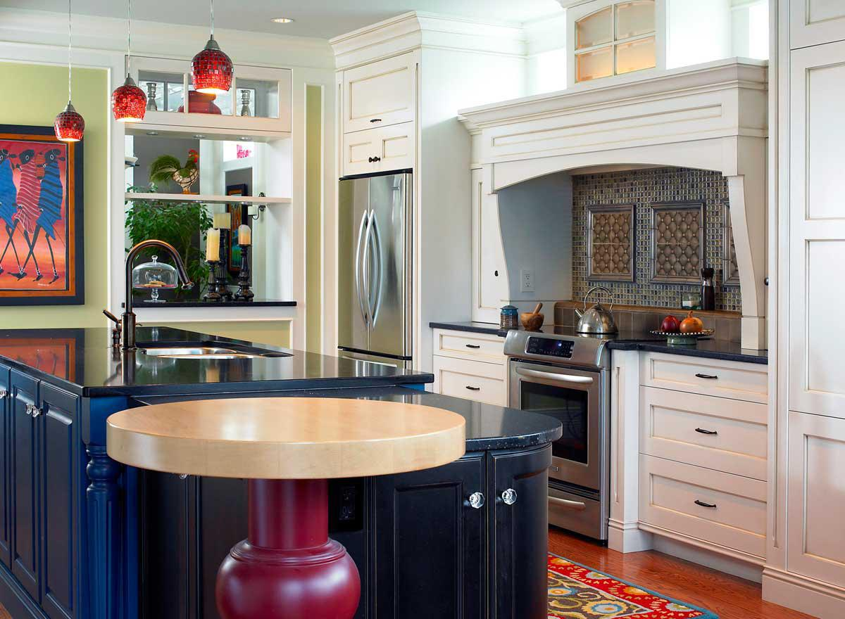 Image of: Kitchen Cabinet Color Schemes