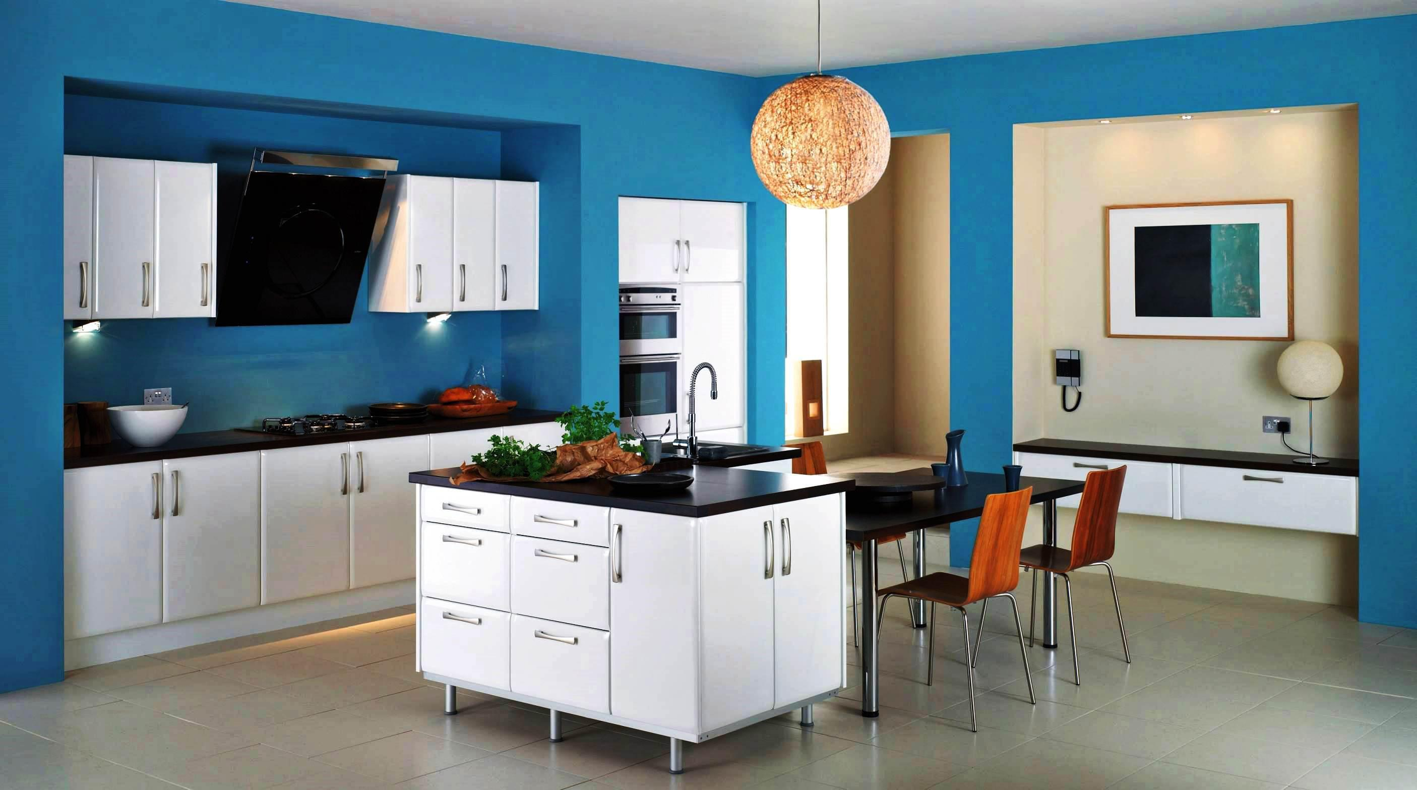 Image of: Kitchen Color Schemes With White Cabinets