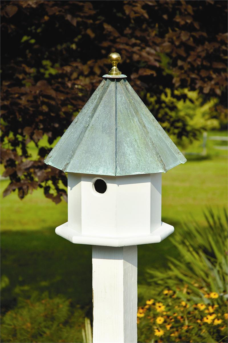 Image of: Octagonal Copper Roof Birdhouse