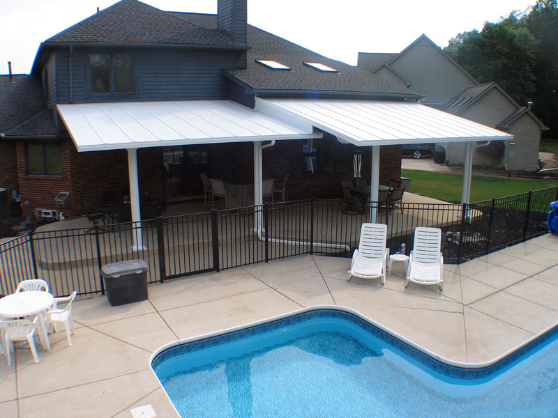 Image of: Pool Aluminum Patio Roof Panels