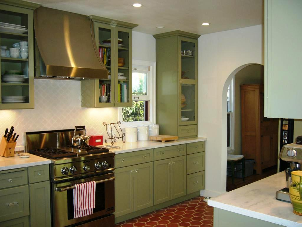 Image of: Sage Green Kitchen Color Scheme