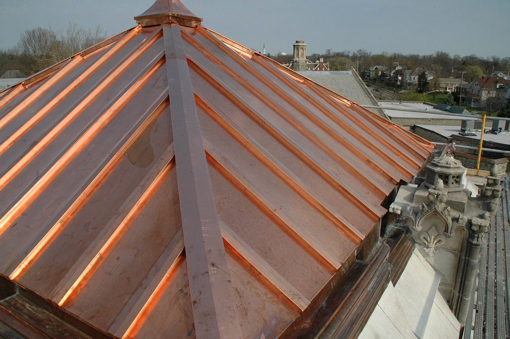 Image of: Standing Copper Roofing Sheet