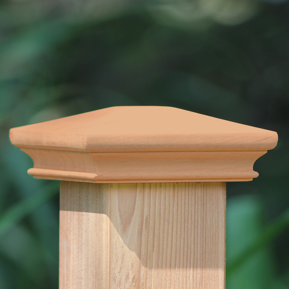 Image of: Wood Fence Post Caps