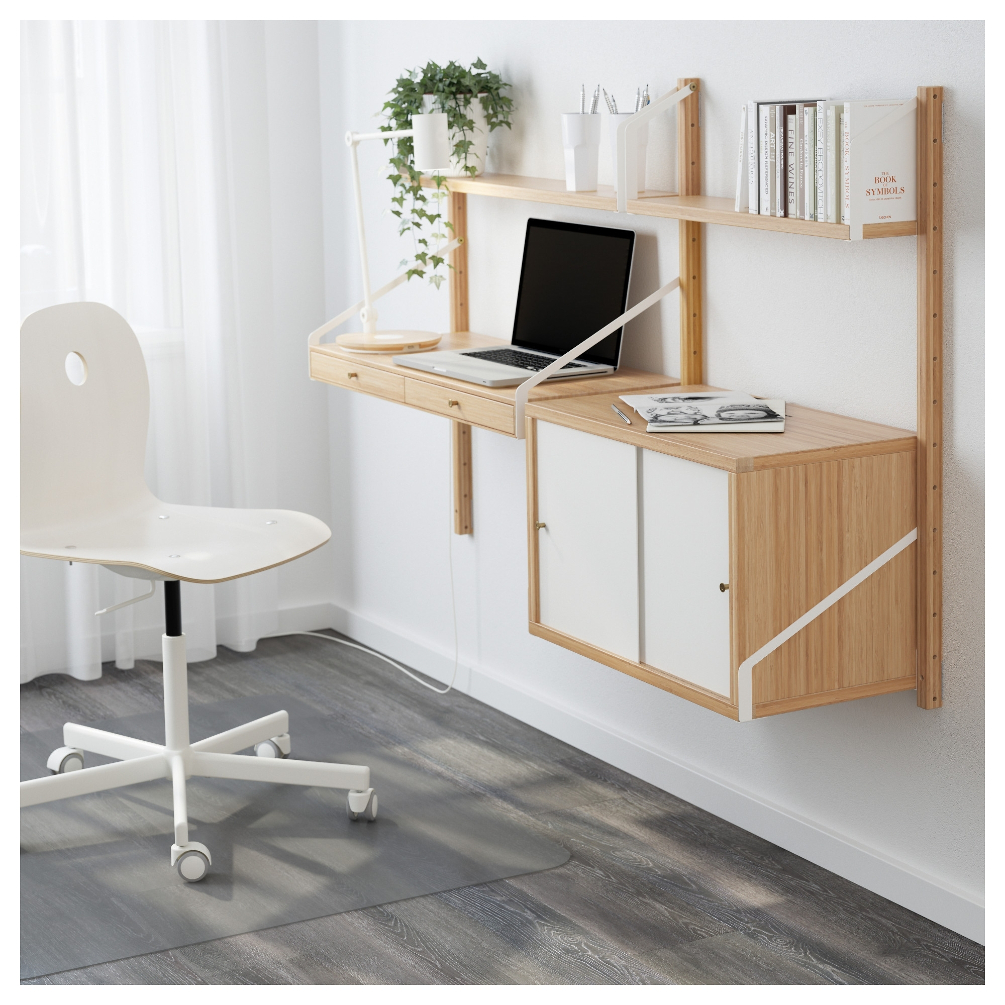 Image of: Built In Home Office Cabinets
