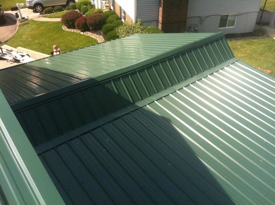 Image of: 29 Gauge Metal Roofing Green
