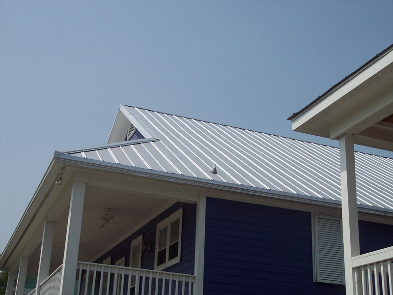Image of: 5v Metal Roof Install