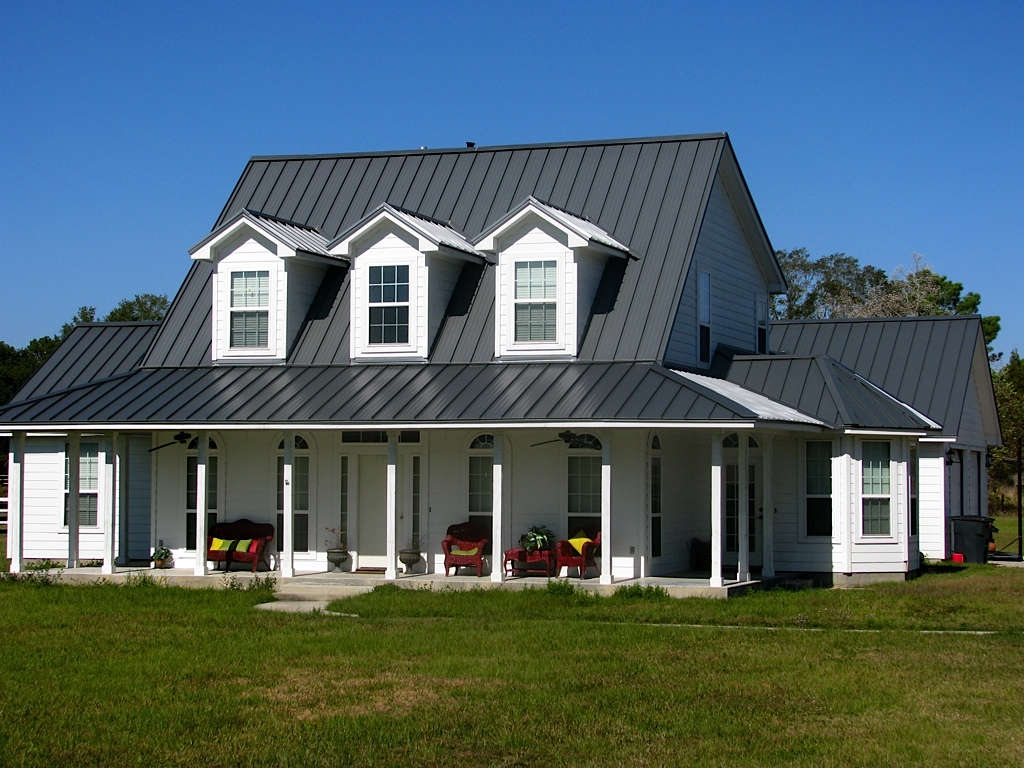 Image of: 5v Metal Roof in Dark Colors