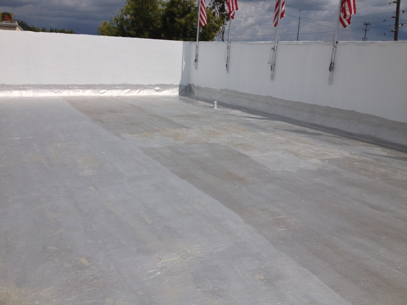 Image of: Aluminum Roof Coating Application