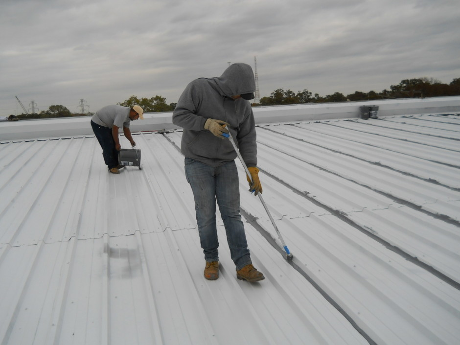 Image of: Aluminum Roof Coating Drying Time