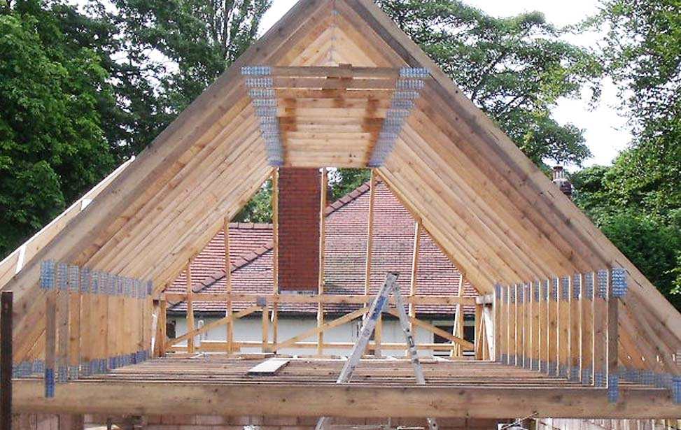Image of: Building Roof Trusses Decor