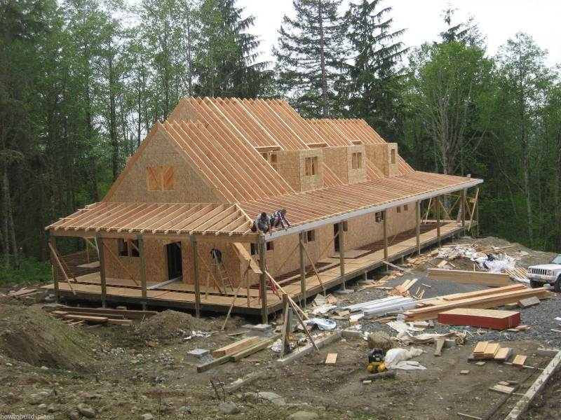 Image of: Building Roof Trusses Design