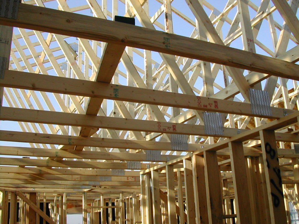 Image of: Building Roof Trusses Style