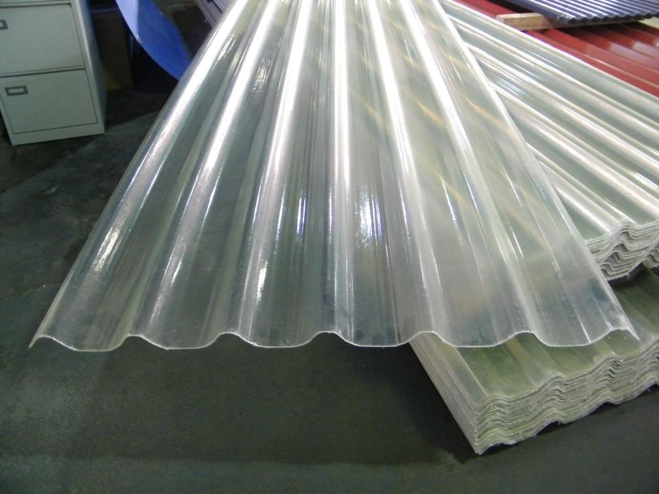 Clear Corrugated Fiberglass Roofing