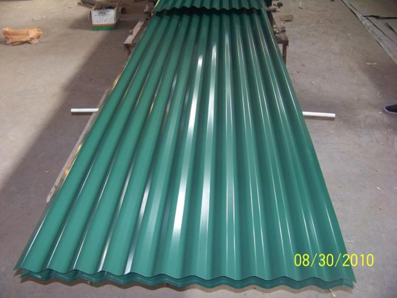 Image of: Colored Corrugated Fiberglass Roofing