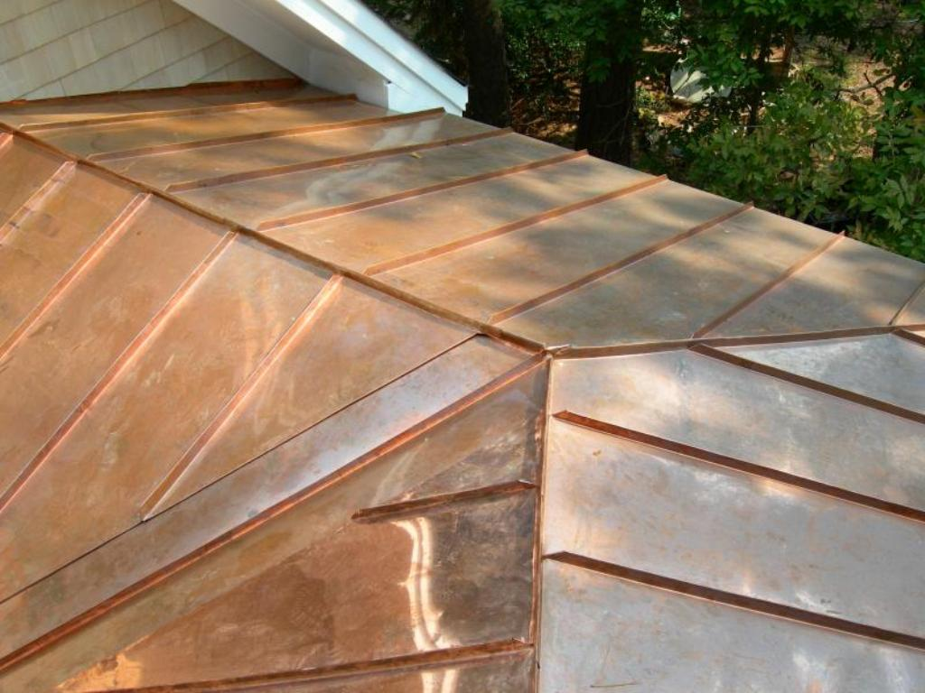 Image of: Copper Roof Flashing Drip Edge